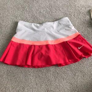 pink/peach & grey tennis skirt- nike dri-fit